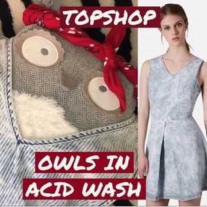 Topshop Moto Stripe V-Neck Acid Wash Mini Dress 2
